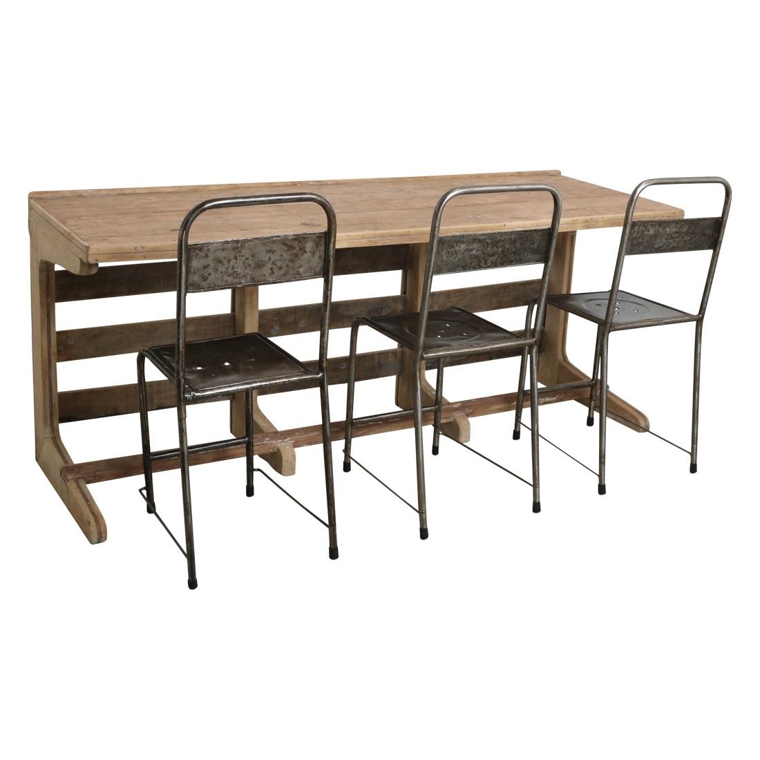 Oneworld Interiors XL Bureau / Table Vintage - 183x61x78m - Pièce unique
