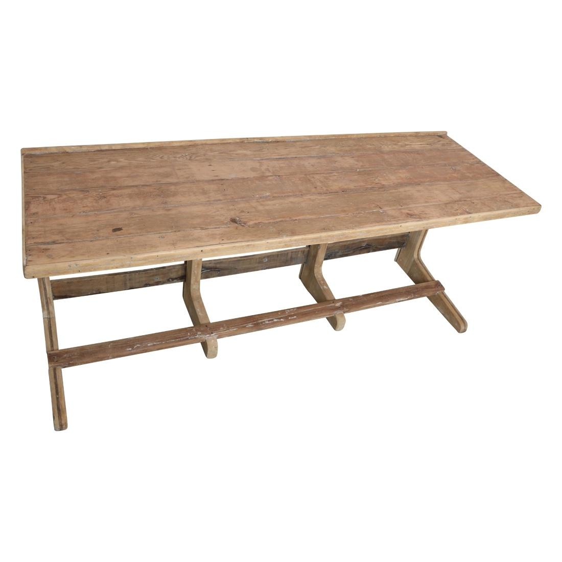 Oneworld Interiors XL natural washed long desk / table Vintage - 183x61x78m - Unique item