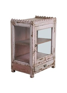 HK Living Showcase vintage pink India - 43x31x59cm - One World Interiors
