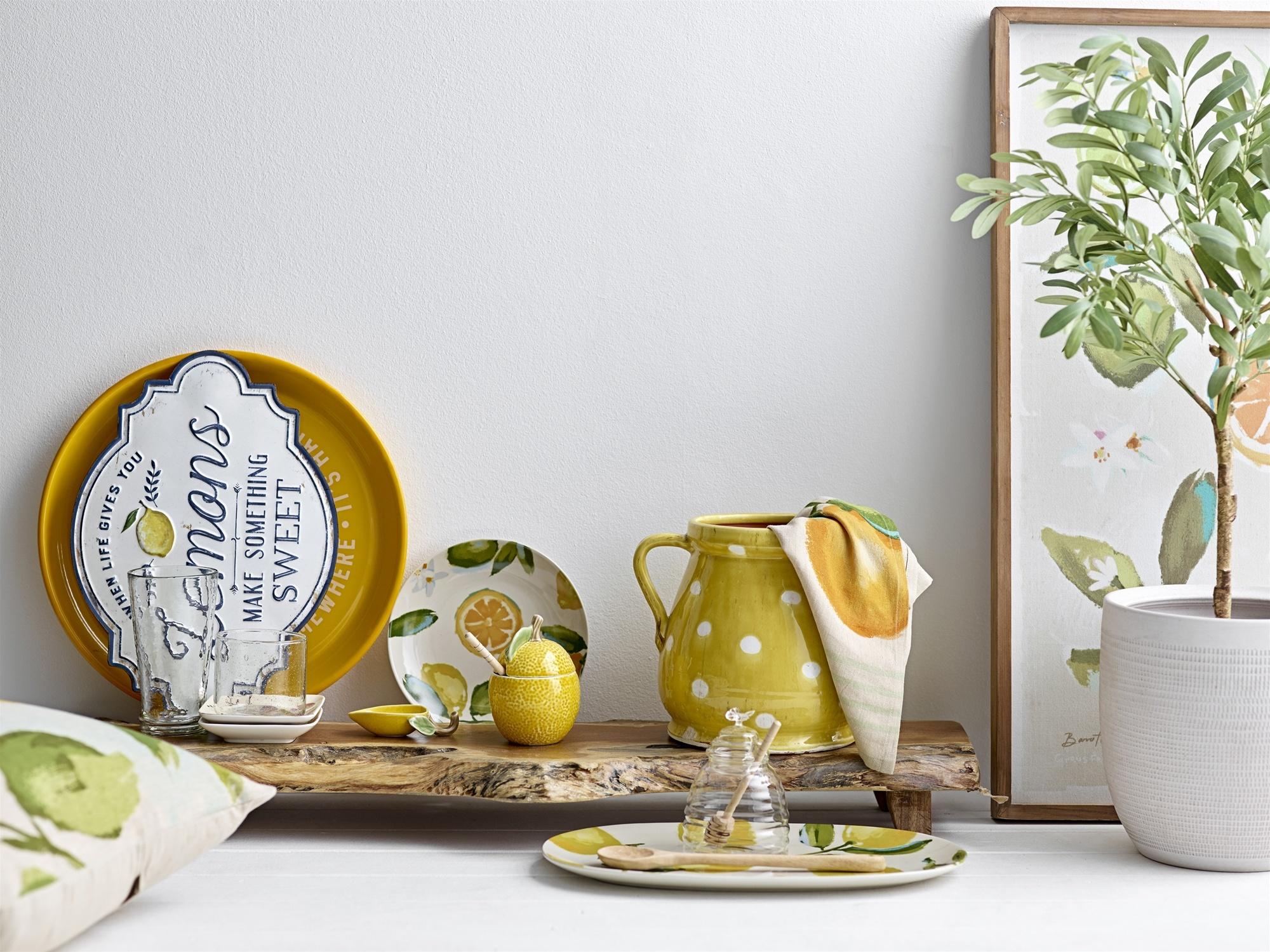 Bloomingville Tarro de cristal para Miel con cuchara de madera - Ø9,5xH13 cm - Bloomingville