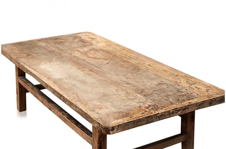 Mesa de salon de Madera cruda - 152x76xh45cm - madera de olmo