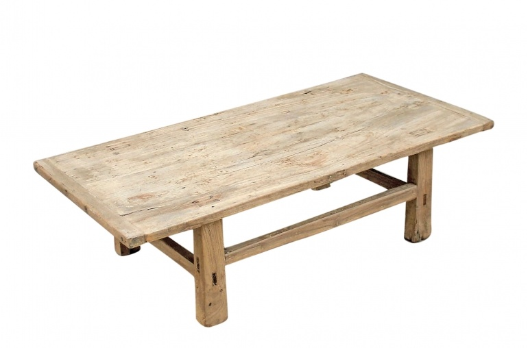 Raw wood coffee table -116x57xh33cm - Elm Wood
