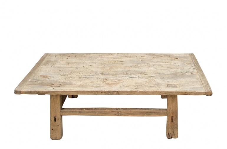 Table basse bois brut - 116x57xh33cm - Bois d'orme