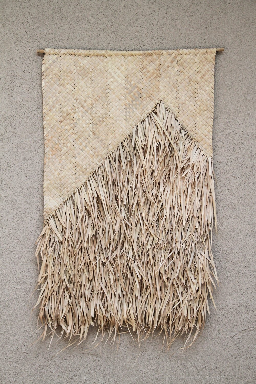 the dharma door  Colgadura Amua de flecos de palma - Natural - 65xh95cm - The dharma door