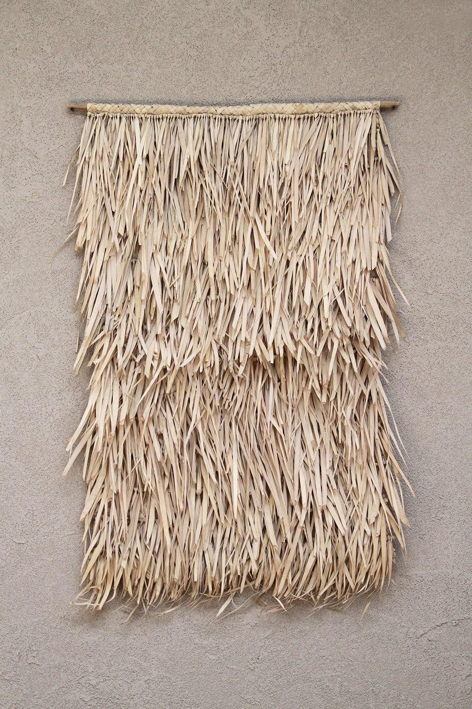 the dharma door  Pendentif Tala à franges en feuilles de palmier - Naturel - 65xh95cm - The dharma door