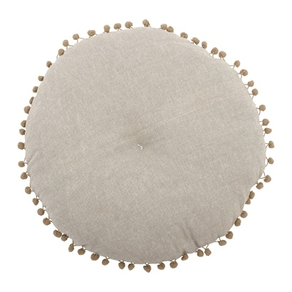 Bloomingville Cushion round Beige & Yellow - Ø40cm - 100% cotton - Bloomingville