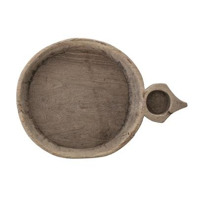 Bloomingville Indian bowl/tray vintage - naturel - L53xH8,5xW37cm - Unique Item