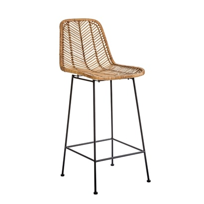 Bloomingville Rattan bar stool - Natural - Bloomingville