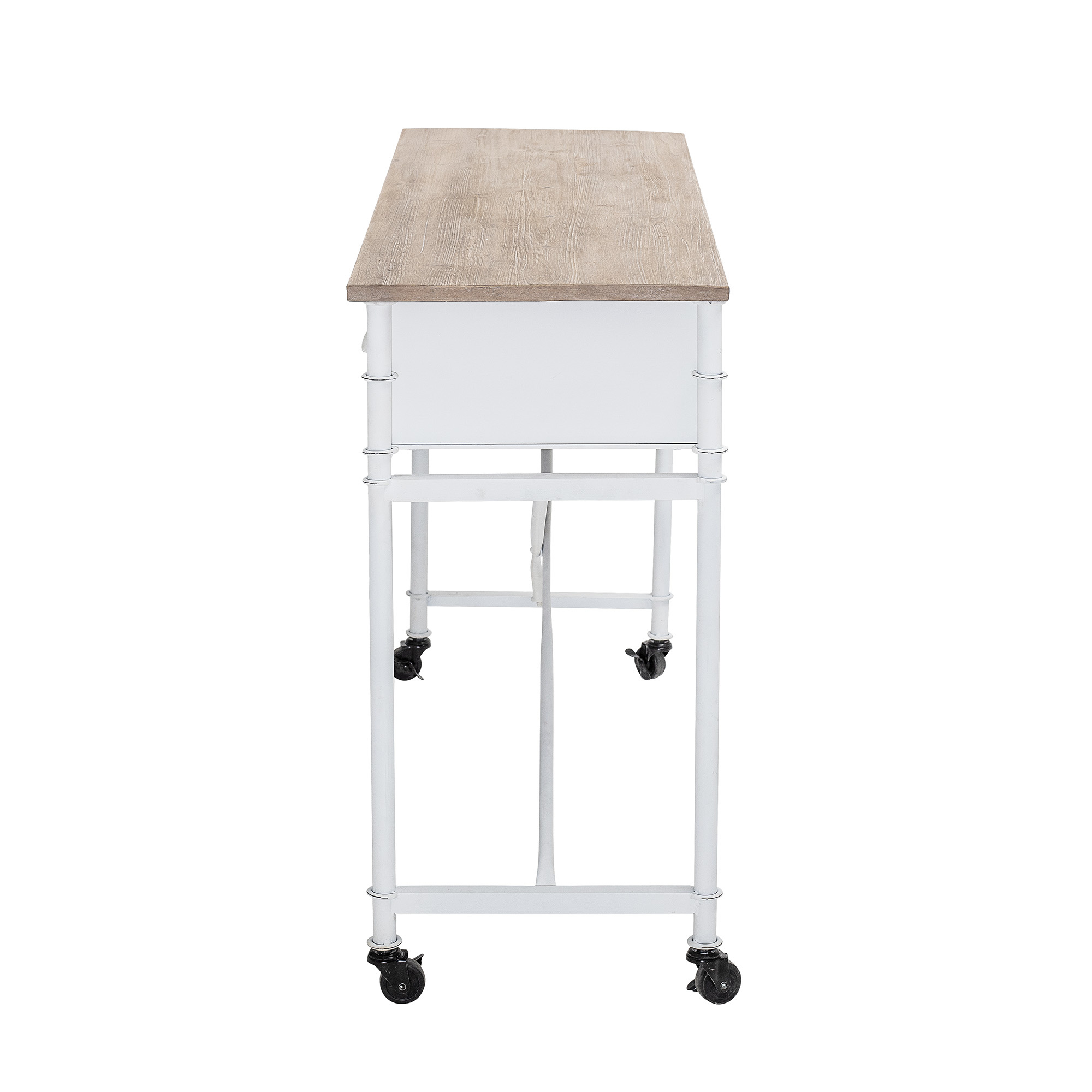 Bloomingville White desk / console - metal & wood - L120xH80xW40cm - Bloomingville