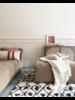 HK Living Berber rug - white with brown diamond pattern - 120x180 cm - HK Living