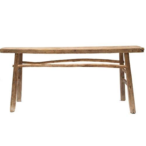 Snowdrops Copenhagen Table console vintage en Bois d'orme - Piece Unique - 166x38xh80cm