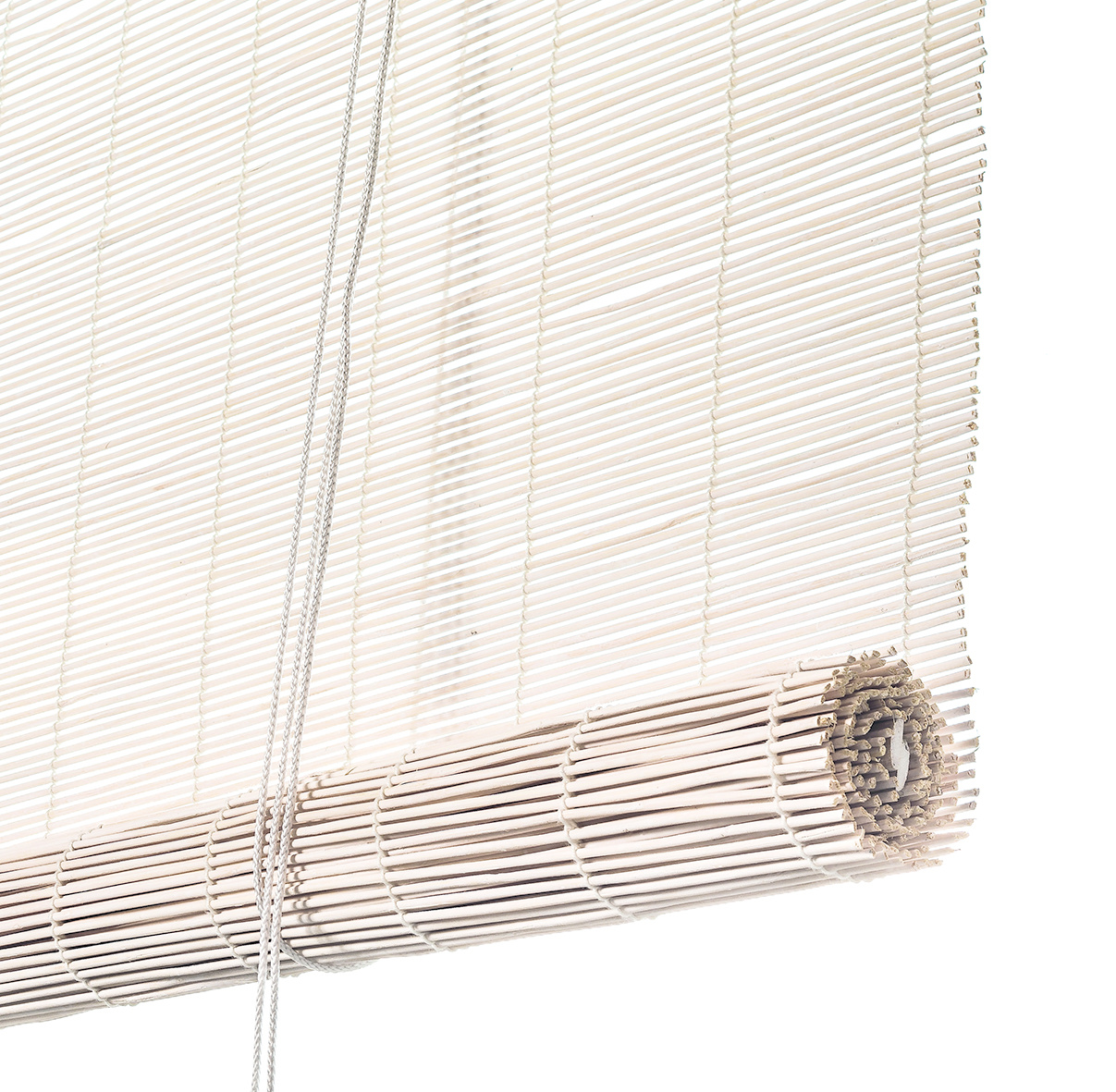 Color & Co Nature Living White-stained bamboo roller blinds