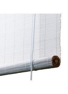 White bamboo roller blinds