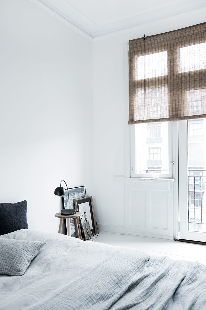 Brown fine bamboo roller blinds