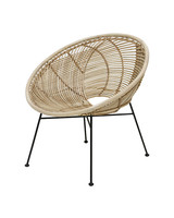 House Doctor Fauteuil / Chaise Lounge Rotin - Naturel - 72x79x80cm - HK living