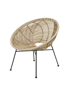 House Doctor Rattan Lounge Chair - Natural - 72x79x80cm - HK living