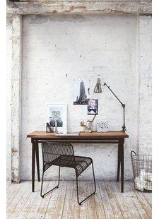 Bureau / Table industrielle Vintage House Doctor - Vu sur bloodandchampagne.com