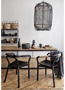 Lampe Suspension Design Z1 Black Sisal Ay illuminate - Vu sur karinecandicekong.com