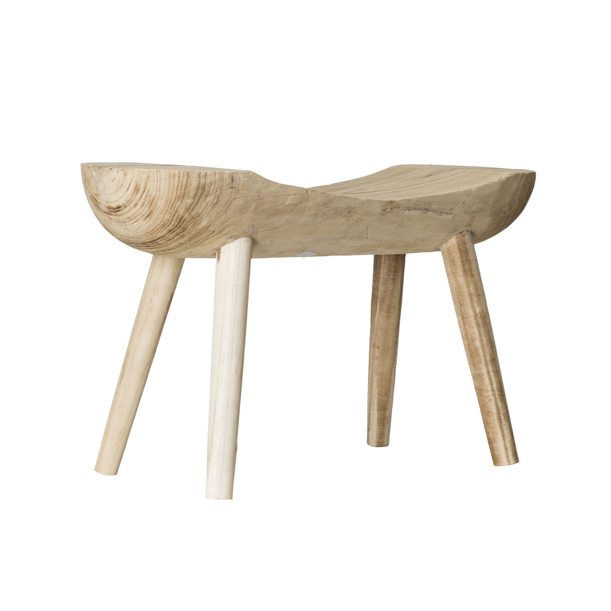 Bloomingville Ethnic stool - Natural Wood - L80xH44xW27cm - Bloomingville
