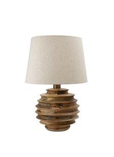 Bloomingville Table Lamp, Natural, Mango Wood - Ø38,5xH54cm - Bloomingville