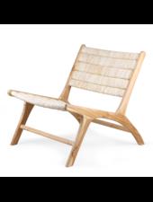 HK Living Occasional Chair abaca and teakwood - Natural - HK Living