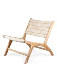 HK Living Chaise Lounge abaca et teck - Naturel - HK Living