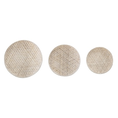 Bloomingville Wall Decor, Set of 3 trays, Natural Wood - Bloomingville