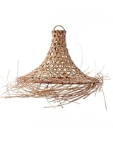 Petite Lily Interiors Suspension en rotin Mykonos - naturel - Ø45xH60