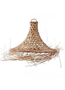 Petite Lily Interiors Lámpara de techo en rattan Mykonos - natural - Ø45xH60