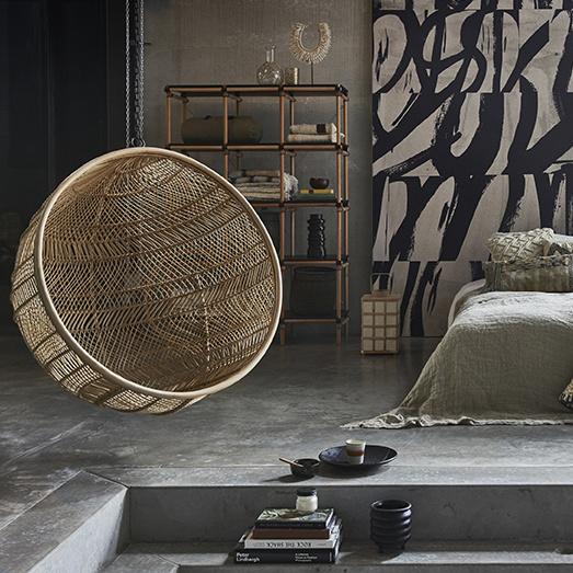 HK Living Llinterna de Bambú - Ø24,5xh41cm - HK Living