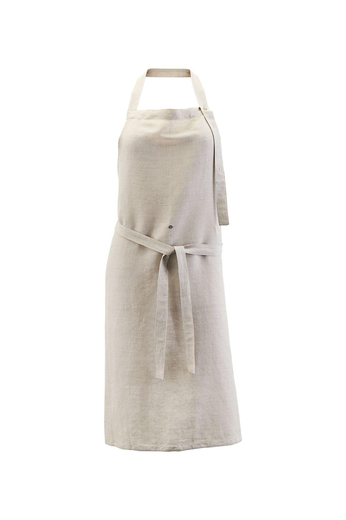 House Doctor Linen apron - light grey - House Doctor