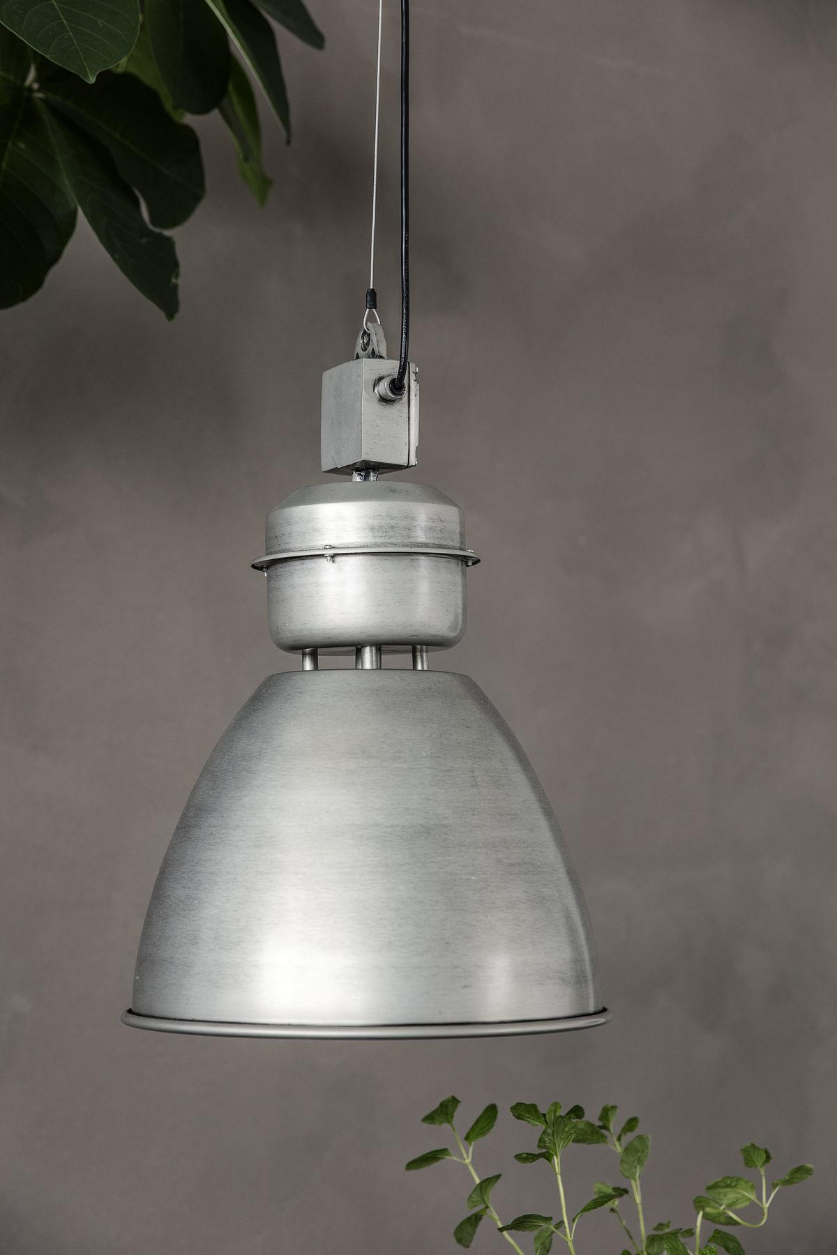 House Doctor Lámpara Industrial de Metal - Estilo Fábrica - Gris - Ø35xh52cm - House Doctor