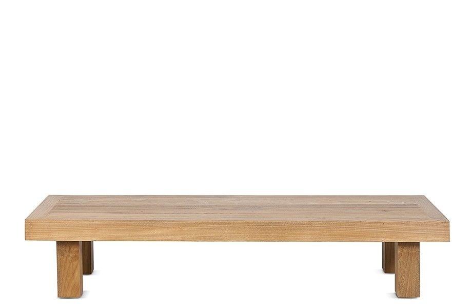 Dareels Table basse en teck - Exterieur - 150x50xh30cm - Dareels