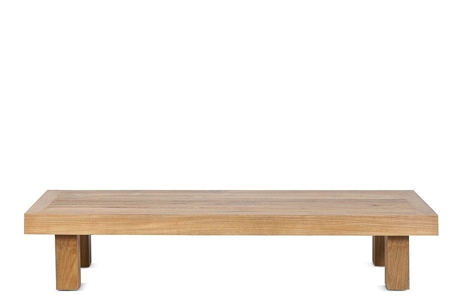 Dareels Table basse en teck Strauss - Exterieur - 150x50xh30cm - Dareels