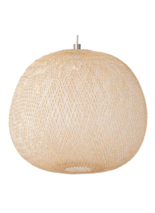 Ay Illuminate Lampe Suspension Bambou PLUME large - Naturel - Ø80xh68cm