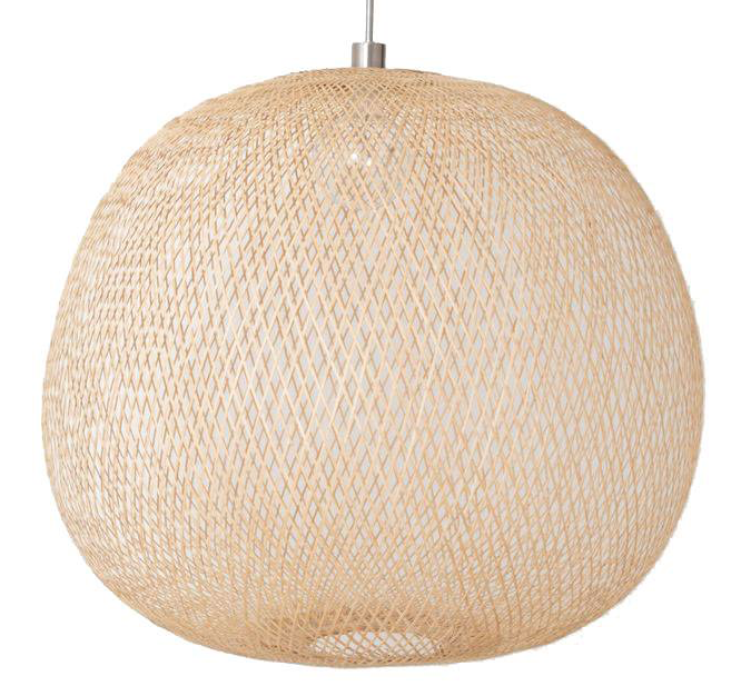 Ay Illuminate Bamboo Pendant Lamp PLUME large - Naturel - Ø80x70cm - Ay illuminate