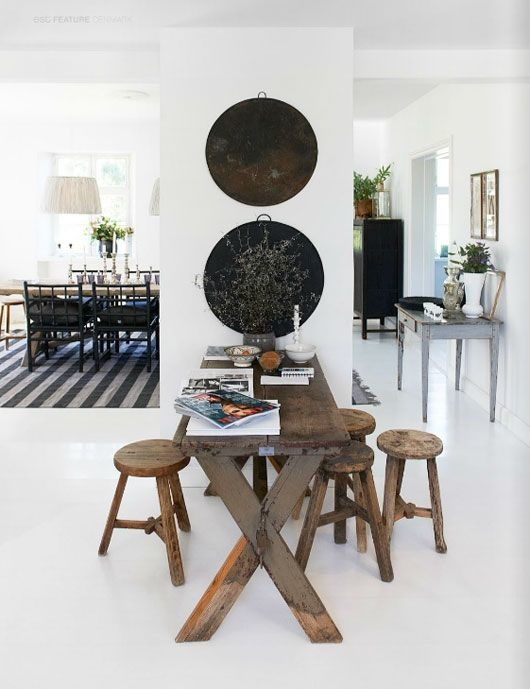 Beautiful nordic ethnic sober styling - pinterest