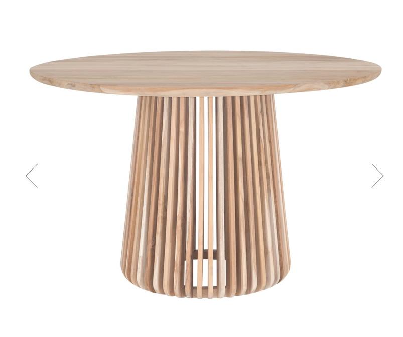 Uniqwa Furniture  Mesa de Teca - Ø120x77cm - Uniqwa Furniture