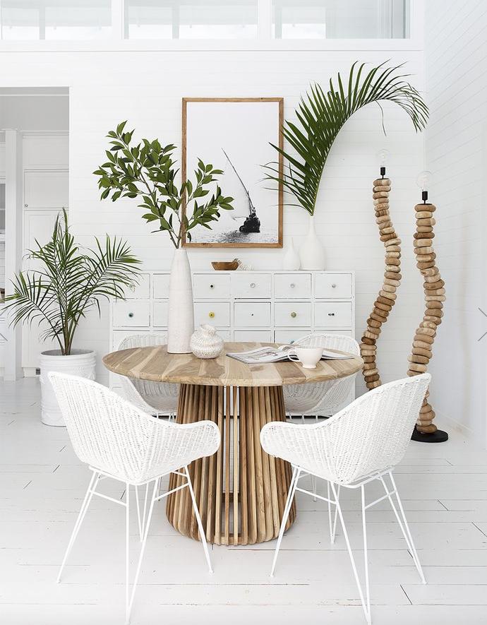 Uniqwa Furniture  Table de salle à manger ronde - teck - Ø120x77cm - Uniqwa Furniture