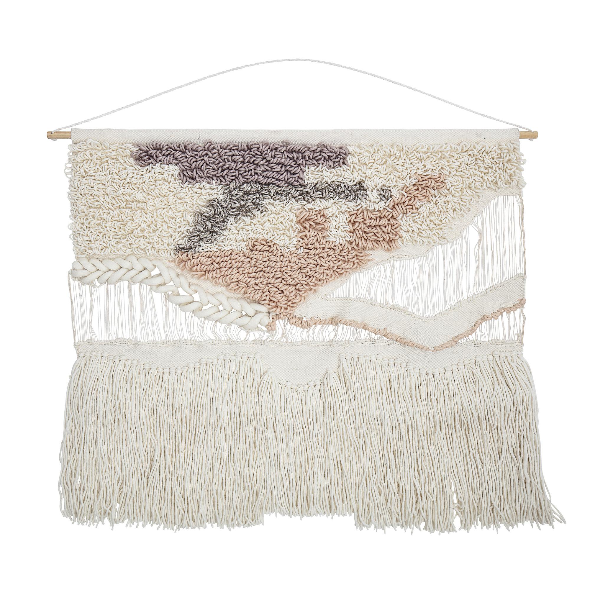 Bloomingville Colgadura de lana - blanca - H95xW105cm - Bloomingville