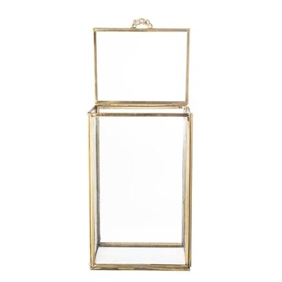 Bloomingville boîte à Souvenirs en verre / laiton - 13,5x12xh21,5cm - Bloomingville