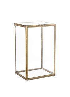 Bloomingville Souvernir boxes - glass / brass - 13,5x12xh21,5cm - Bloomingville