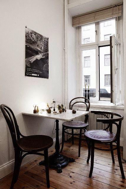 Uniqwa Furniture  Dinning bistro table  Johnson - white - 60xh75cm - Uniqwa Furniture Collections