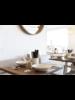 Uniqwa Furniture  Table de bistrot métal et teck - blanc - 60xh75cm - Uniqwa Furniture Collections
