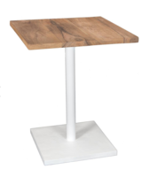 Uniqwa Furniture  Mesa de Metal y Madera - blanca - 60xh75cm - Uniqwa Furniture Collections