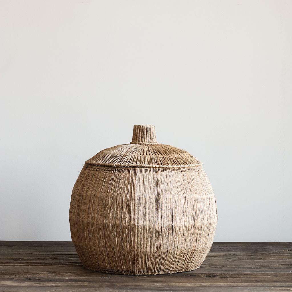 Tell me more Set of 2 Natural baskets yute - Ø42Xh39 et Ø55Xh42cm - Tell Me More