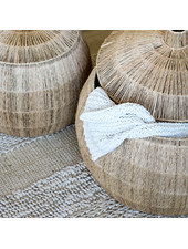 Tell me more Set of 2 Natural baskets yute - Ø42Xh39 et Ø55Xh42cm - Tell Me More