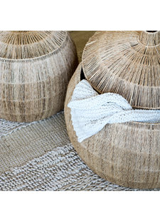 Tell me more Set de 2 paniers ethnique jute - Ø42Xh39 et Ø55Xh42cm - Tell Me More