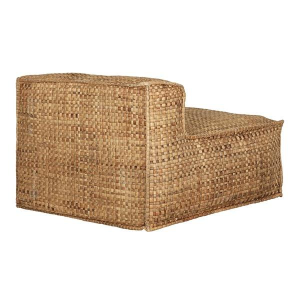 Petite Lily Interiors Silla Lounge de aire libre 'Resort' - jacinto de agua - 100xh63cm - Natural