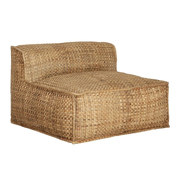 chaise lounge resort jacinthe d 39 eau naturel 100xh63cm. Black Bedroom Furniture Sets. Home Design Ideas